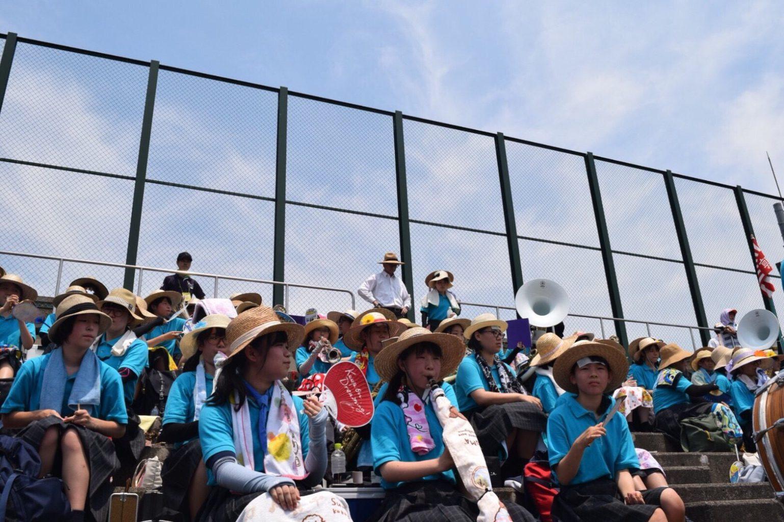 吹奏楽部・野球選手権鳥取大会応援