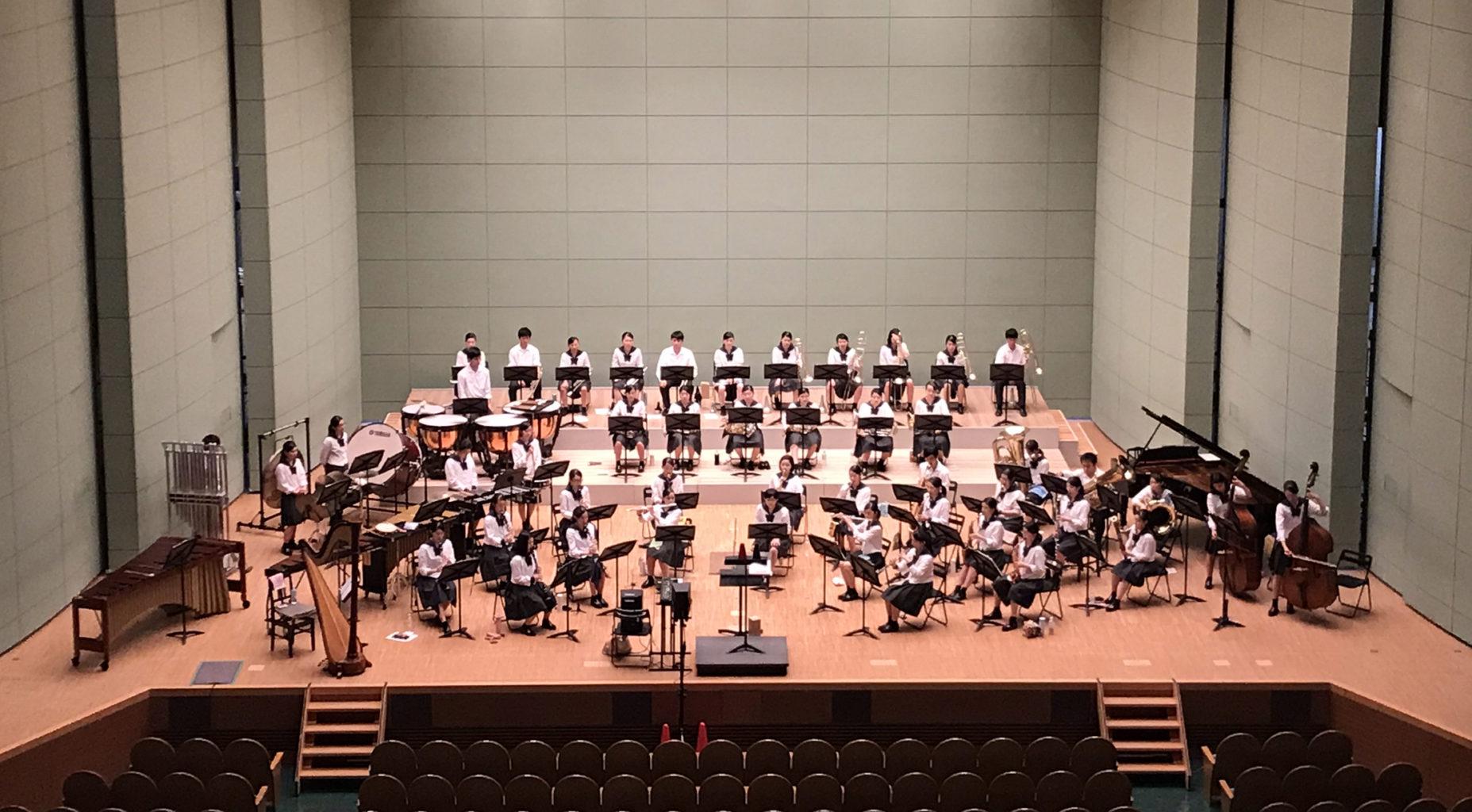 吹奏楽部:コンクール県大会通過、35年連続で中国大会へ