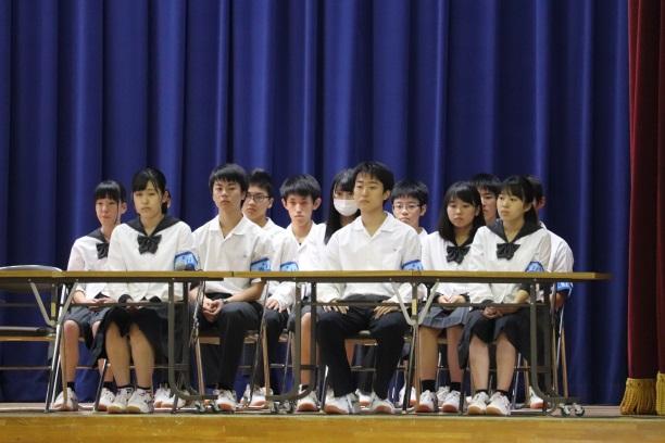 令和元年度生徒総会(後期)が行われました。