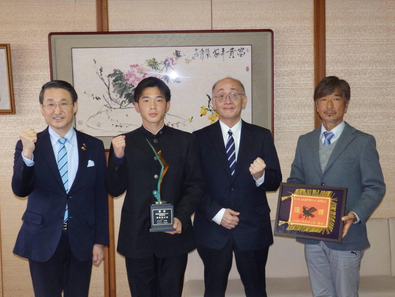 サッカー:平井伸治 鳥取県知事 表敬訪問実施レポート